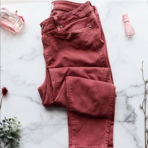 PAIGE Jeans dark rose Verdugo Ankle skinny NWOT